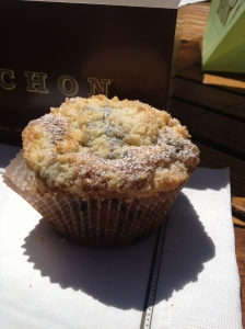 Bouchon Bakery. Fresh Blueberry Muffin.